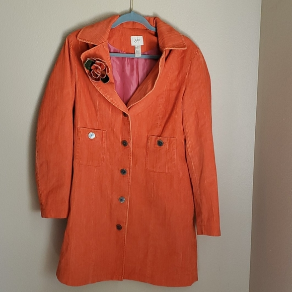Woman M tall J Jill Orange corduroy Jacket